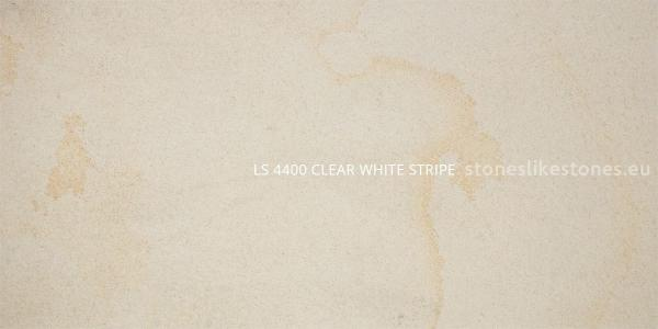 Clear White Stripe Muster - LS 4400